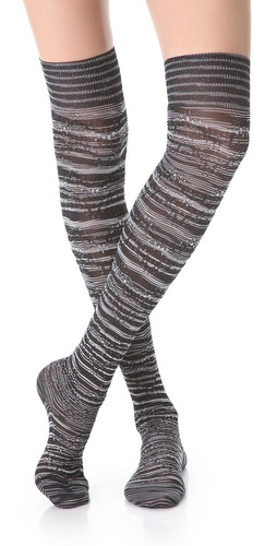 Missoni Metallic Thigh High Socks at Shopbop.com