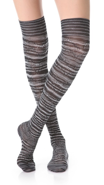 Missoni Metallic Thigh High Socks