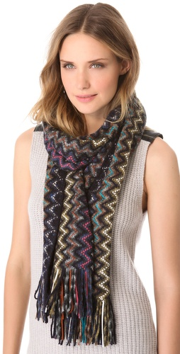 Missoni Thick Knit Zigzag Fringe Scarf at Shopbop / East Dane