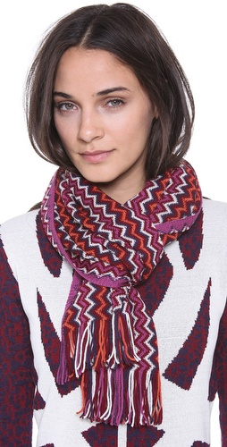Missoni Mini Zigzag Scarf at Shopbop / East Dane
