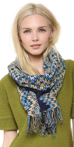 Missoni Chenille Mini Zigzag Scarf at Shopbop / East Dane