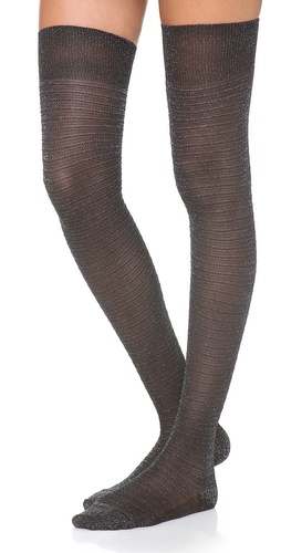Missoni Shimmer Stripe Thigh High Socks at Shopbop / East Dane