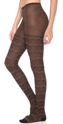 Missoni Shimmer Zigzag Tights at Shopbop / East Dane