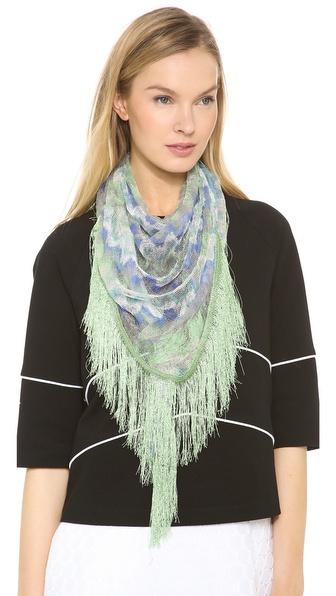 Missoni Woven Stole - Indigo/Green at Shopbop