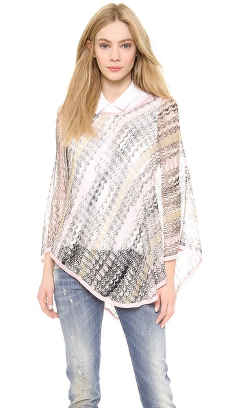 Missoni Woven Poncho - Pink at Shopbop / East Dane