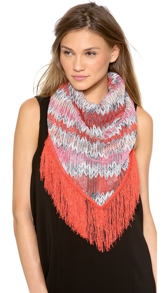 Missoni Woven Stole - Coral at Shopbop / East Dane