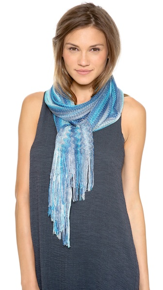 Missoni Woven Shawl - Blue at Shopbop