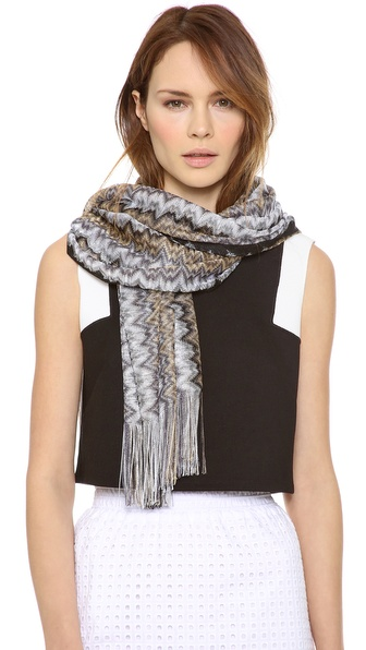 Missoni Woven Shawl - Black at Shopbop / East Dane