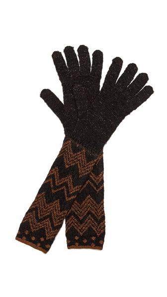 Missoni Polka Dot Zigzag Gloves