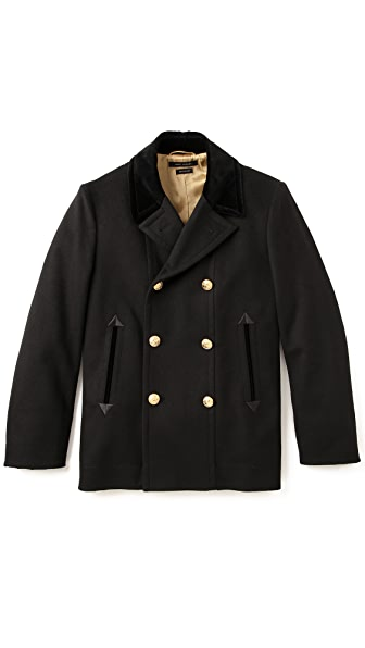 Marc Jacobs Velvet Collar Pea Coat