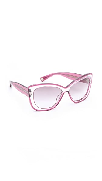 Marc Jacobs Sunglasses Translucent Cat Eye Sunglasses