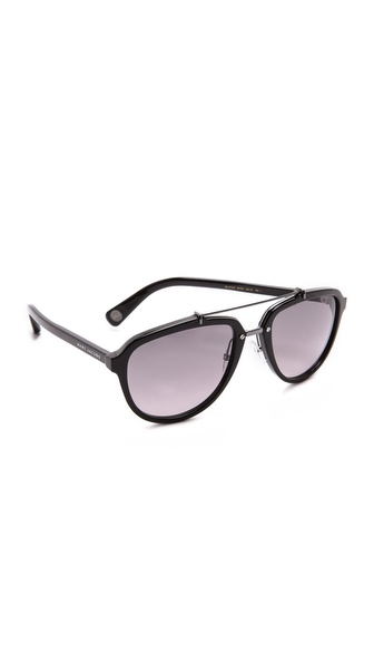 Marc Jacobs Sunglasses Acetate & Metal Aviator Sunglasses
