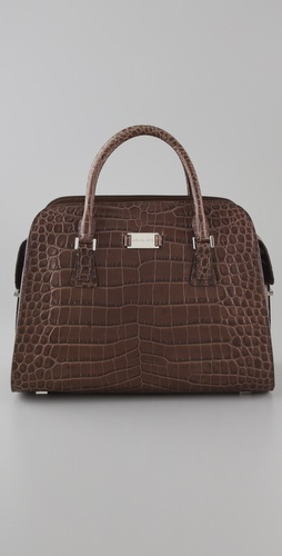 Michael Kors Collection Gia Embossed Satchel