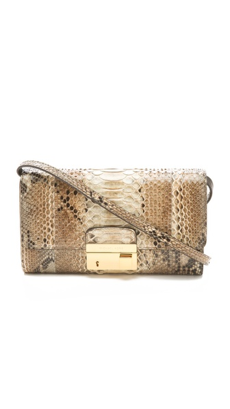 Michael Kors Collection Python Gia Clutch