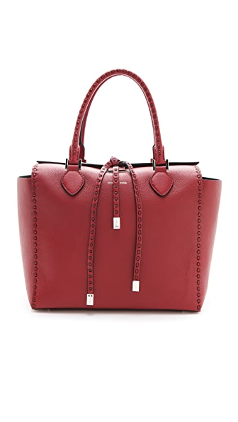 Michael Kors Collection Miranda Large Tote with Leather Stitch