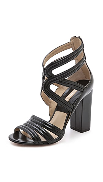 Michael Kors Collection Preston Cross Strap Sandals
