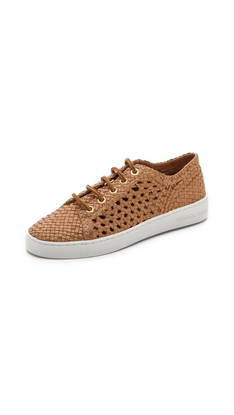 Michael Kors Collection Violet Woven Low Top Sneakers - Peanut