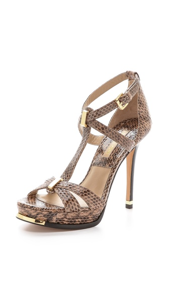 Michael Kors Collection Leandra Snakeskin Sandals