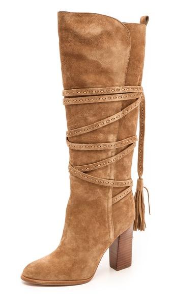 Michael Kors Collection Jessa Tassel Wrap Boots
