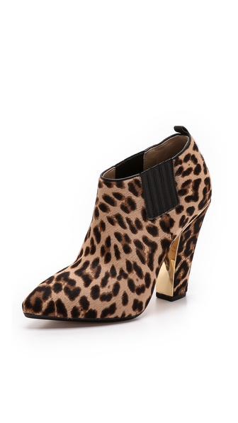 Michael Kors Collection Lacy Leopard Haircalf Booties