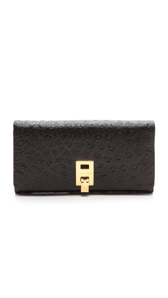 Michael Kors Collection Ostrich Embossed Wallet