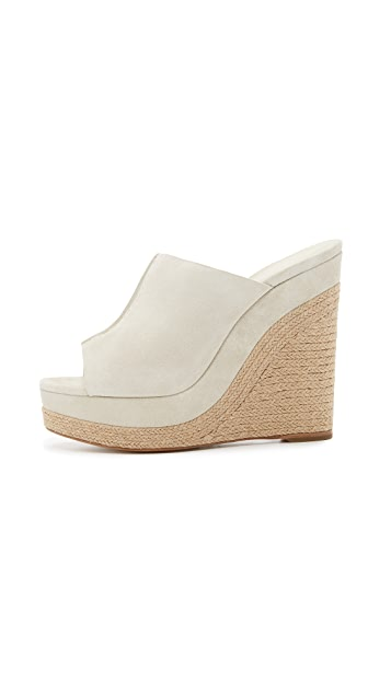 Michael Kors Collection Charlize 绒面革坡跟穆勒鞋