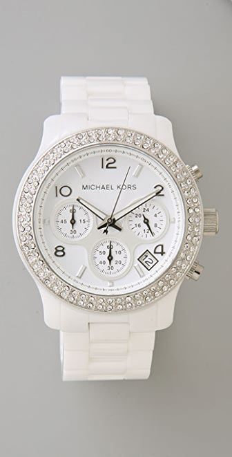 Michael Kors Glitzy Ceramic Watch