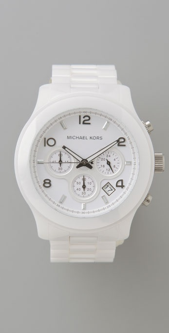 Michael Kors Ceramic Oversized Watch