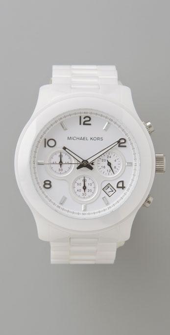 Michael Kors Ceramic Oversized Watch