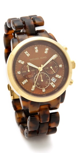 Michael Kors Tortoise Watch at Shopbop.com
