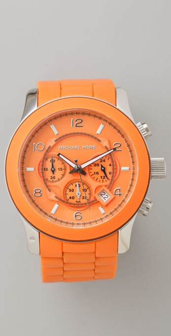 Michael Kors Orange Oversized Watch