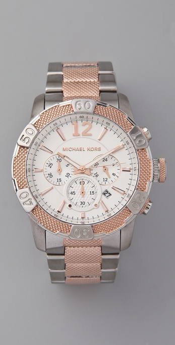 Michael Kors Oversized Rock Top Two Tone Watch