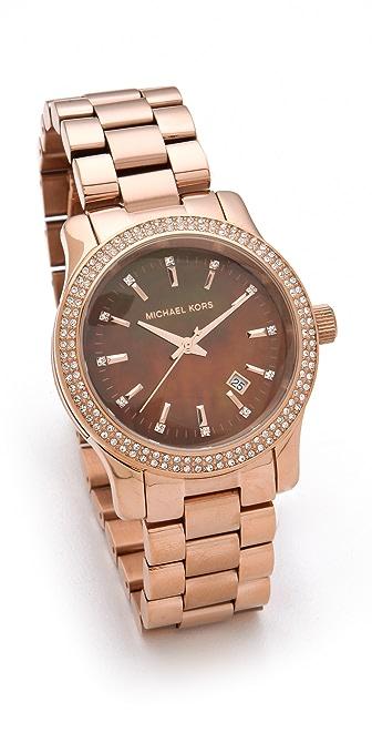 Michael Kors Runway Mother of Pearl Glitz Watch