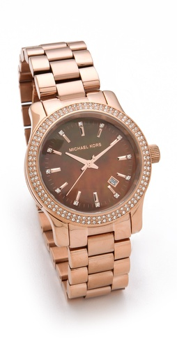 Michael Kors Runway Mother of Pearl Glitz Watch