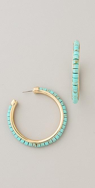 Michael Kors Sleek Exotics Hoop Earrings
