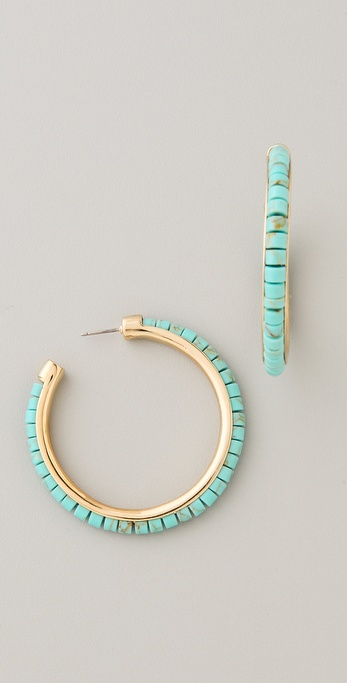 Michael Kors Sleek Exotics Hoop Earrings