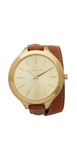 Michael Kors Slim Double Wrap Watch at Shopbop / East Dane