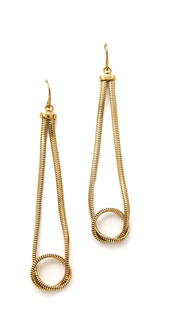 Michael Kors Snake Loop Earrings