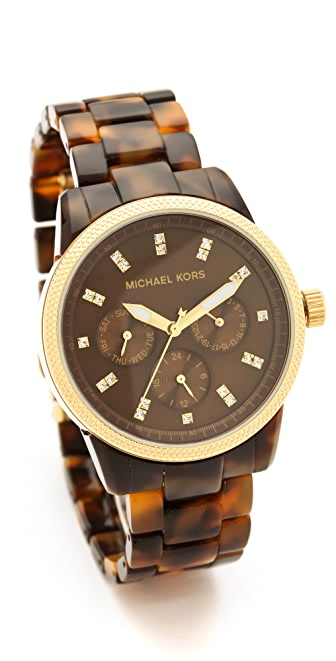 Michael Kors Tortoise Sport Watch