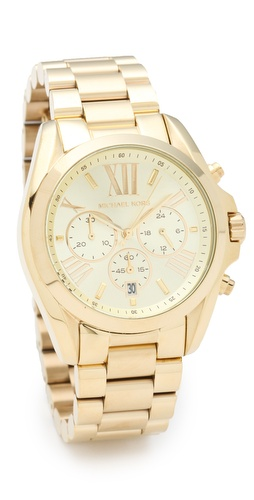 Michael Kors Bradshaw Gold Chronograph Watch at Shopbop.com
