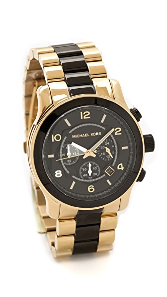 Michael Kors Two Tone Runway Watch