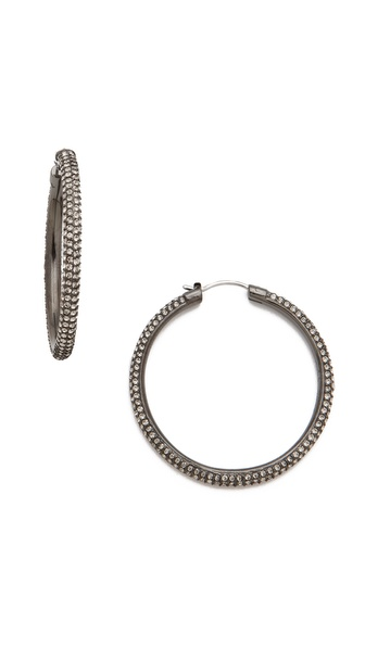 Michael Kors Pave Hoop Earrings