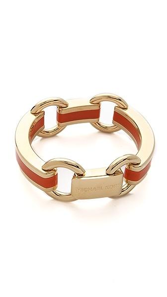 Michael Kors Enamel Status Link Bracelet