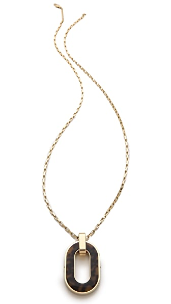 Michael Kors Tortoise Pendant Necklace