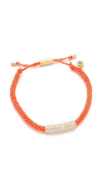 Michael Kors Pave Macrame Bracelet