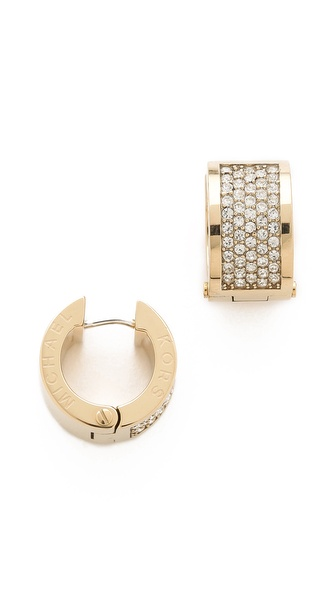 Michael Kors Pave Huggie Earrings