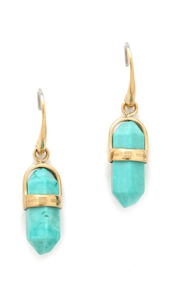 Michael Kors Seaside Luxe Geode Drop Earrings