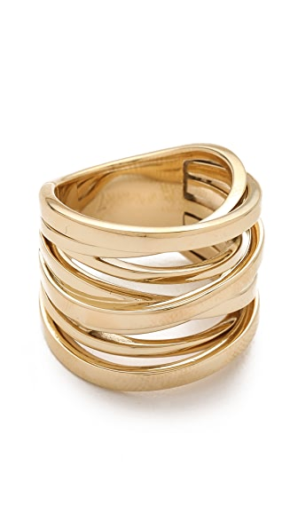 Michael Kors Brilliance Large Intertwined Ring