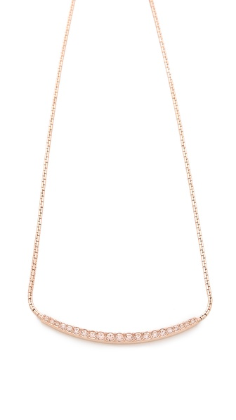 Michael Kors Brilliance Pave Bar Necklace