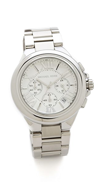 Michael Kors Camille Chronograph Watch (Silver)